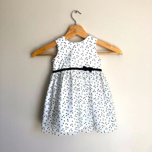 Carter's White with Black Polka Dots 12 months